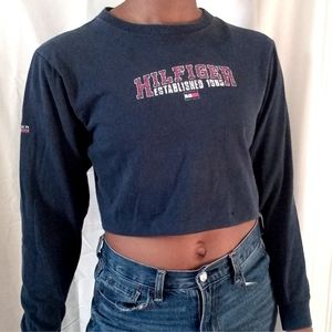 TOMMY HILFIGER   Navy crop long sleeve 561